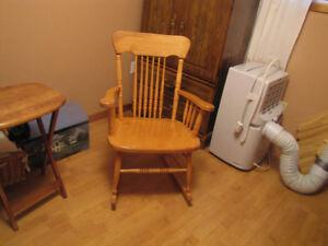 Solid Birch Rocking Chair