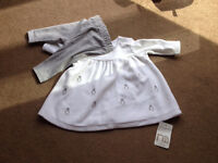 Mothercare girls winter outfit upto 1 month new with tags