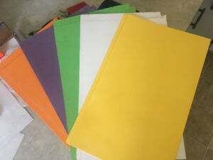 """File Folders legal size 9 1/2""""x 15"""" Kardex brand  5 colors new"""