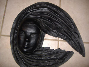 Brazilian leather face wall hangings - decor items Kitchener / Waterloo Kitchener Area image 3