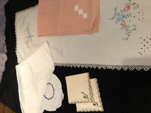 Vintage table linens MUST SELL!! Lots handed down.