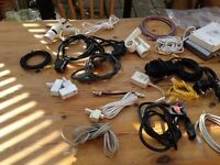 Assorted electrical connectors hubs cables light fittings job lot