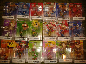 Looking to sell 18 amiibo's as bundle mint in box.