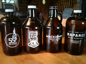 Collection of Craft beer growlers For Sale
