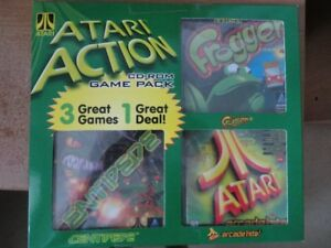 3 ATARI GAMES FOR PC COMPUTER  UNOPENED