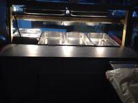 Heated display unit servery catering eqipment