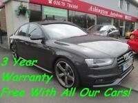 2013 AUDI A4 2.0 TDI 177 Black Edition........... 3 YEAR WARRANTY FREE OF CHARGE