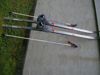 Cross Country Ski Set consisting of Skis, Boots and Poles