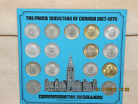 The Prime Ministers of Canada - Commemorative Medallions