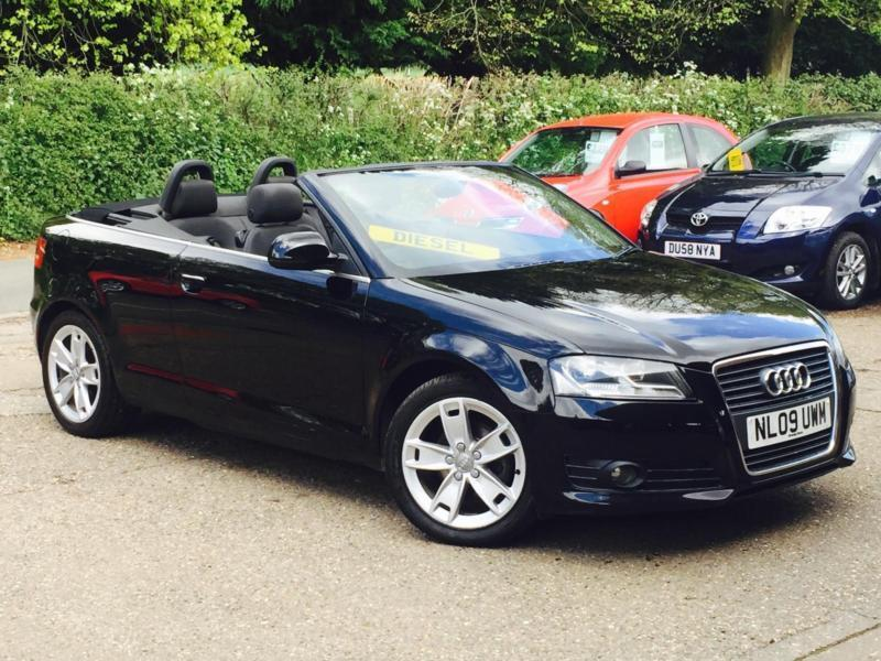 2009 audi a3 cabriolet 1 9tdi sport black only 64 121 miles fsh superb in high wycombe. Black Bedroom Furniture Sets. Home Design Ideas
