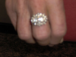 diamond cluster ring for sale(valentines gift for your loved one