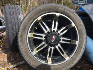 265/50r20 low profile 20 inch aluminum rims and tires for sale