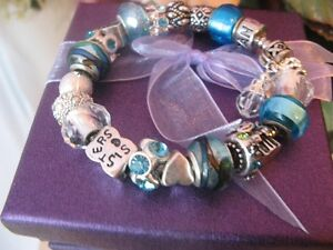 Build a European Charm Bracelets Completed $45 ~ Book a Party!!!