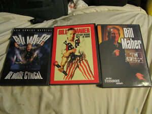 Super Sucker and Bill Maher comedy performance DVDs