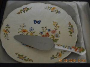 China Cottage Garden Pie/Cake Server & Plate Kawartha Lakes Peterborough Area image 1