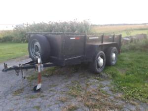 Remorque  4x10  2 essieux