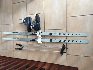 Ensemble complet de skis de fond unisexe pour junior