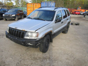 2002 Jeep Grand Cherokee ** FOR PARTS ** INSIDE & OUTSIDE **