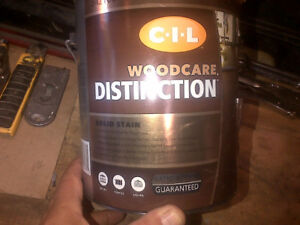 CIL WOODCARE DISTINCTION SOLID STAIN GALLON BRAND NEWDEEP FOREST