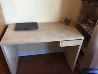 IKEA study table for sale with book shelf