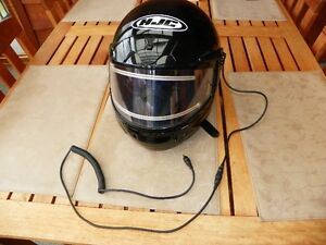 size large snowmobile helmet with electric visor barely used