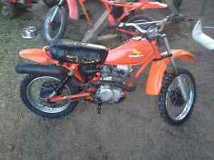Honda 1980 XR80, dirt bike with spare 1981 rolling frame