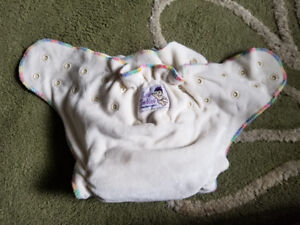 4 Bamboo cloth diapers