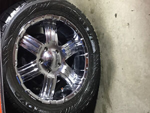 """18"""" boss wheels and rubber. 5x5"""