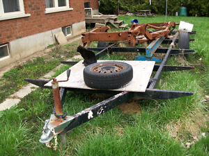Single axle house trailer frame with electric brakes