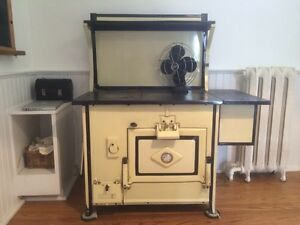 Antique wood cookstove.