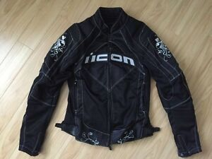 Icon women's motorcycle jacket - size SMALL