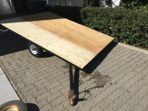 6 foot X 8 Foot tilting Utility  trailer for quads, or tobaggon