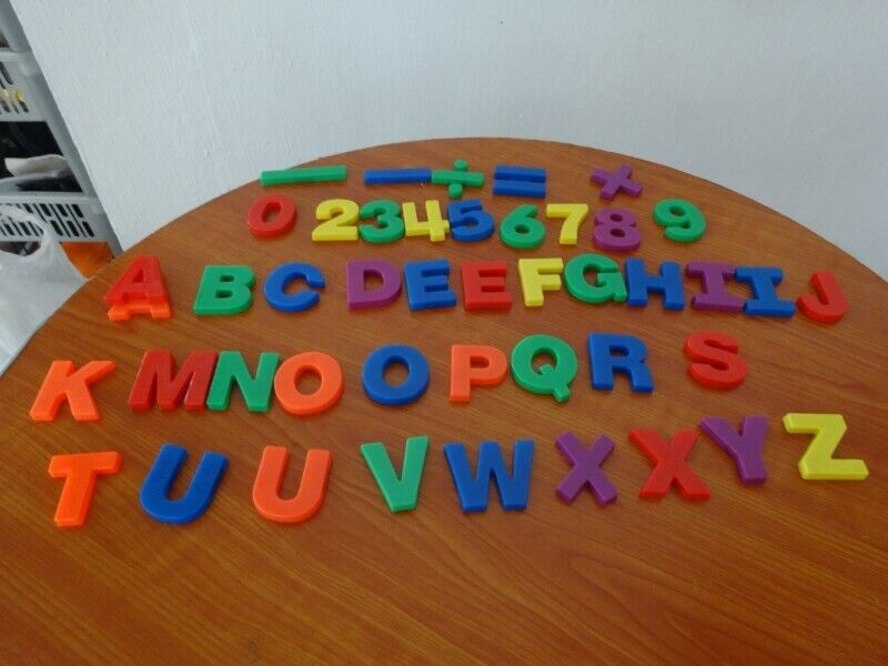 Magnetic Alphabets and Numbers