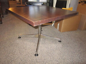 Small Table With Wood Top & Metal Frame