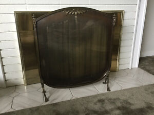 Antique fireplace shield