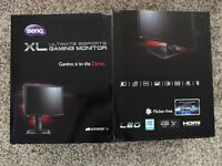 BenQ XL2411Z 144hz 1ms 3D Gaming Monitor TV Used For 2 Hours From Brand New