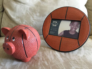 Basketball Frame and Piggy Bank