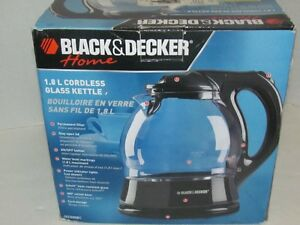 BLACK AND DECKER 1.8 LTR. CORDLESS GLASS KETTLE