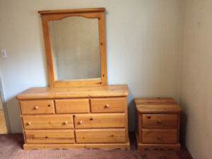 Pine Dresser and night stand