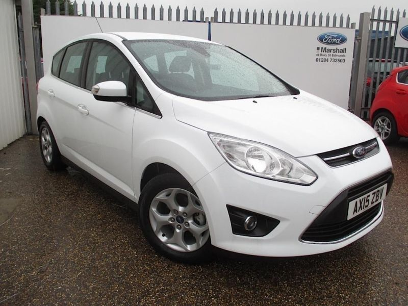 2017 Ford C Max 1 6 Tdci Zetec 5dr 5sts 115 Sel White Manual