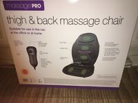 Thigh and back massage chair cover