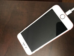 I phone 6s, 64 gigs , Rose,  avec rogers