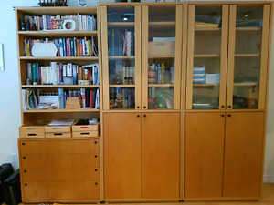 Office  cabinets in ash
