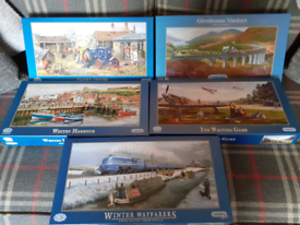 Jigsaw puzzles set 5 puzzles