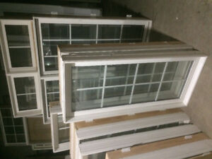 Blow out Sale! Casement windows white with white grills
