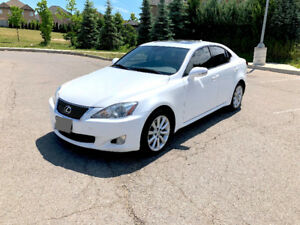Bright pearl white and super clean Lexus IS 250 AWD