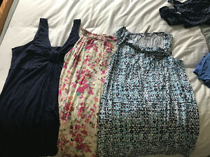 Assorted maternity clothes