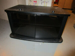 TV Stand with smoked glass doors