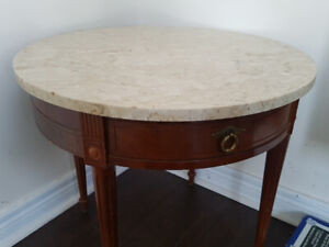 marble top coffee / living room table
