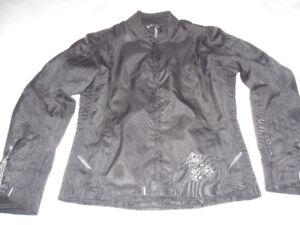ladies' motorcycle jacket + leather chaps